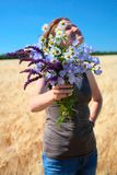 Bunch of field flowers Stock Photos