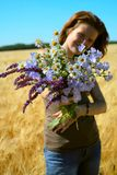 Bunch of field flowers Royalty Free Stock Images