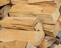 A bunch of firewood Royalty Free Stock Images