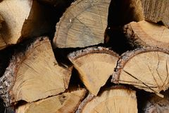 A bunch of firewood Stock Images