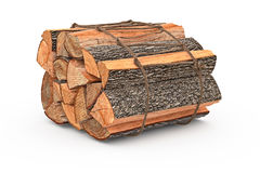 Bunch firewood stack chopped. Bunch firewood stack dry chopped. 3D graphic Stock Image