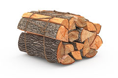 Bunch firewood stack chopped. Firewood bunch stack dry chopped. 3D graphic Royalty Free Stock Image