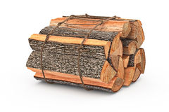 Bunch firewood stack chopped. Bunch firewood stack dry chopped. 3D graphic Stock Images