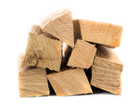 Bunch of firewood. A bunch of wood on a white background Royalty Free Stock Photo