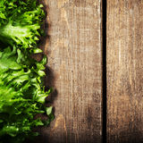 Bunch of Fitness Salad on wooden background.  Diet Food and heal Royalty Free Stock Photos