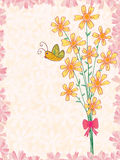 A Bunch Of Flower Butterfly_eps. Illustration of a bunch of flower with butterfly and petals frame. Below butterfly suitable for you main sample text Stock Image