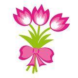 Bunch of flowers. Vector Illustration Royalty Free Stock Photos