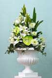 Bunch of flowers in a big vase. Bunch of flowers in a big decorative vase royalty free stock photography