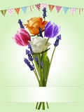 Bunch of flowers bunting and banner background Royalty Free Stock Photos