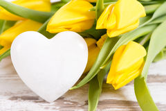 Bunch of flowers with heart Royalty Free Stock Photos