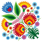 Bunch of flowers. Illustration of Polish traditional papercut from Lowicz region Stock Photos
