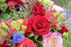 Bunch of flowers with roses Royalty Free Stock Images