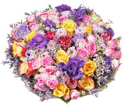 Bunch of flowers from roses and chrysanthemums Royalty Free Stock Photos