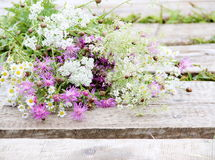 Bunch of Flowers in Rustic Style Royalty Free Stock Photography