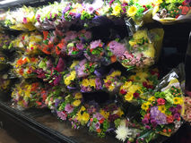 Bunch of flowers selling at supermarket Stock Images