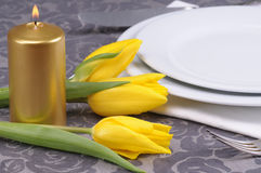 Bunch of flowers on the table Stock Image