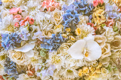 Bunch of flowers, vintage background. Stock Photography