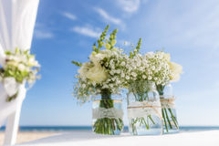 Bunch of flowers for a wedding ceremony. Stock Images