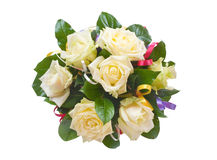 Bunch of flowers on white background. Bouquet of flowers, isolated on white Royalty Free Stock Photo