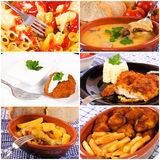 Bunch of food collage. Bunch of the international food in collage Stock Image