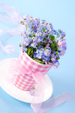 Bunch of forget-me-nots Stock Images