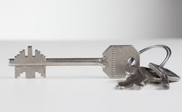 Bunch of four various metal keys Stock Photography