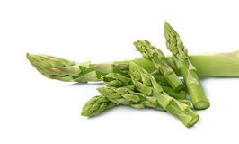 Bunch of fresh asparagus isolated on white Stock Photos