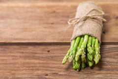 Bunch of fresh asparagus stems Stock Photos