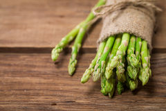 Bunch of fresh asparagus stems Stock Photography