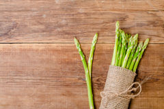 Bunch of fresh asparagus stems Royalty Free Stock Image