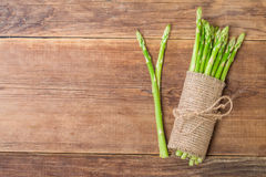 bunch of fresh asparagus stems Royalty Free Stock Photography