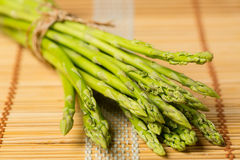 Bunch of fresh asparagus tie Royalty Free Stock Images
