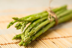 Bunch of fresh asparagus tie Royalty Free Stock Image
