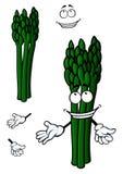 Bunch of fresh asparagus vegetable cartoon Stock Photo