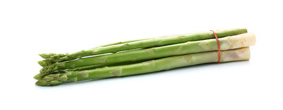 Bunch of fresh asparagus  on white Stock Images