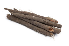 Bunch of fresh black salsify Stock Photos