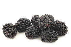 Bunch of fresh blackberries Royalty Free Stock Image