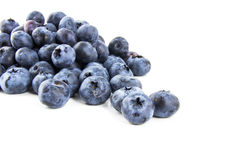 Bunch of fresh blueberries. Isolated on white background Stock Photo