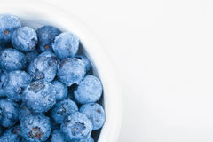 Bunch of fresh blueberries in white bowl - studio shot Royalty Free Stock Photo