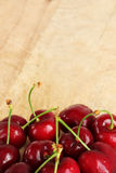 A bunch of fresh cherries, space for text Stock Photography
