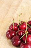 A bunch of fresh cherries, space for text Royalty Free Stock Photo