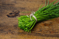 A bunch of fresh chives Stock Image