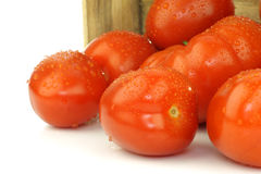 Bunch of fresh and colorful italian plum tomatoes Stock Photo