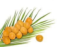 A bunch of fresh dates Royalty Free Stock Photos