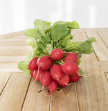 A bunch of fresh dirty radish Stock Photo