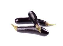 Bunch of fresh eggplants. Stock Images