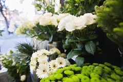 Bunch of fresh flowers at florist shop Royalty Free Stock Images