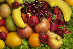 Bunch of fresh fruit. Healthy ingredients. Royalty Free Stock Photography