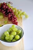 Bunch of Fresh Grapes in Bowl Royalty Free Stock Image
