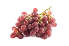Bunch of fresh grapes fruit on white Royalty Free Stock Image